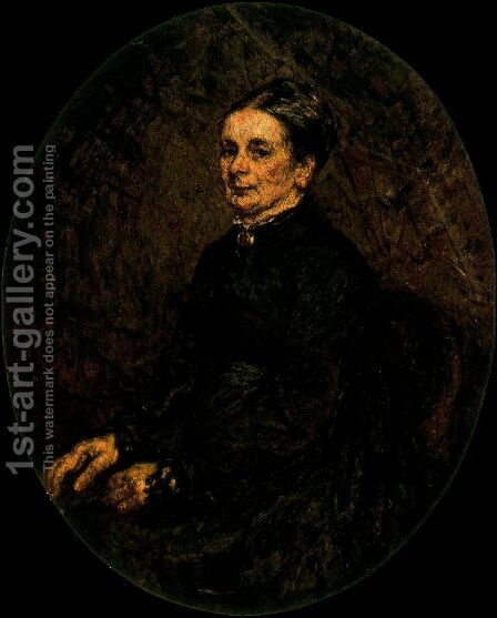 Mme. Teissier by Adolphe Joseph Thomas Monticelli - Reproduction Oil Painting