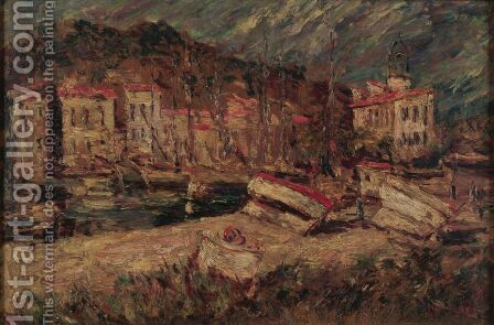 Port of Cassis by Adolphe Joseph Thomas Monticelli - Reproduction Oil Painting