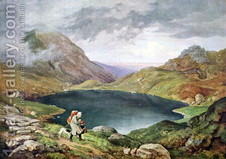Pond in the Sudeten Mountains by Adrian Ludwig Richter - Reproduction Oil Painting