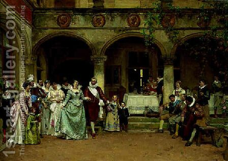 The silver anniversary by Adrien Moreau - Reproduction Oil Painting