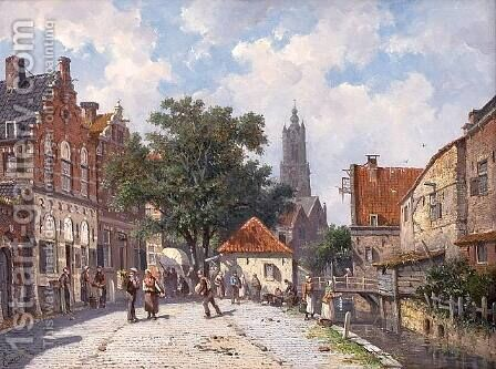 Amsterdam by Adrianus Eversen - Reproduction Oil Painting