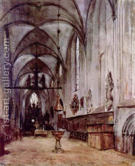 Chorus of the old abbey church in Berlin by Adolph von Menzel - Reproduction Oil Painting