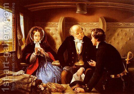First Class, The Return by Abraham Solomon - Reproduction Oil Painting