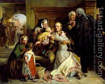 Not Guilty (The Acquittal) by Abraham Solomon - Reproduction Oil Painting