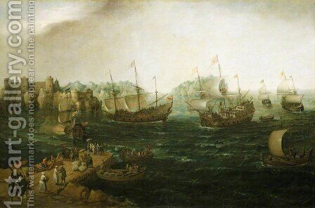 Ships Trading in the East by Cornelis Hendricksz. The Younger Vroom - Reproduction Oil Painting