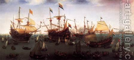 The Return in Amsterdam of the Second Expedition to the East Indies by Cornelis Hendricksz. The Younger Vroom - Reproduction Oil Painting