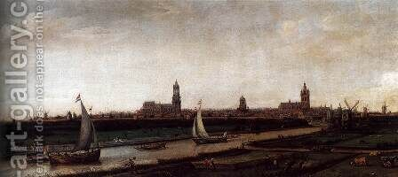 View of Delft from the Northwest by Cornelis Hendricksz. The Younger Vroom - Reproduction Oil Painting