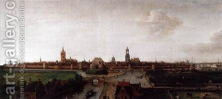 View of Delft from the Southwest by Cornelis Hendricksz. The Younger Vroom - Reproduction Oil Painting