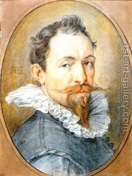 Self-Portrait by Hendrick Goltzius - Reproduction Oil Painting