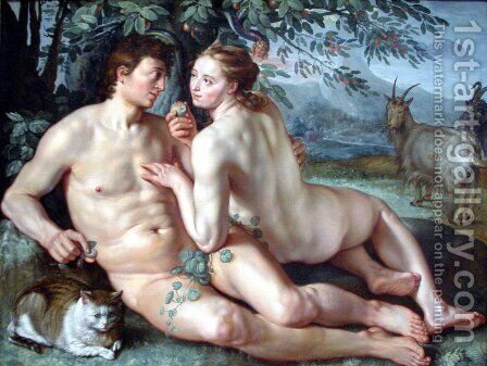 The Fall of Man by Hendrick Goltzius - Reproduction Oil Painting