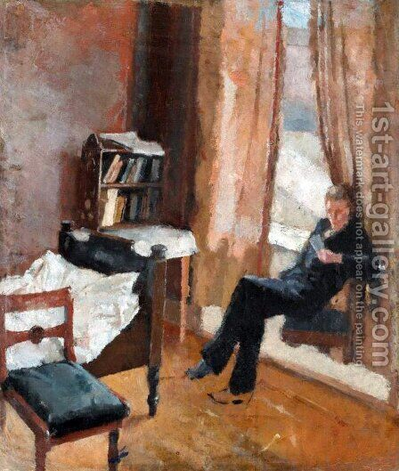 Andreas Reading (Andreas leser) by Edvard Munch - Reproduction Oil Painting