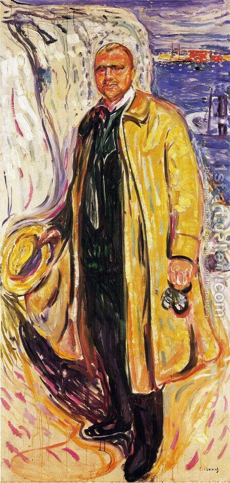 Christian Gierloff by Edvard Munch - Reproduction Oil Painting