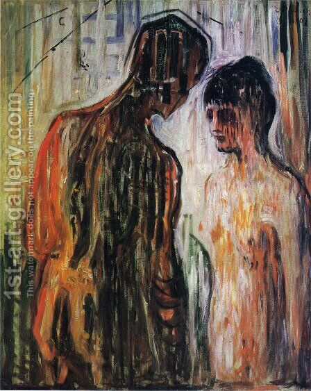 Cupid and Psyche by Edvard Munch - Reproduction Oil Painting