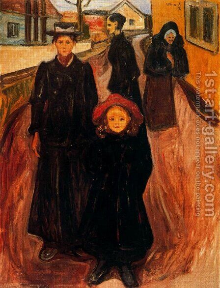 Four Ages in Life by Edvard Munch - Reproduction Oil Painting