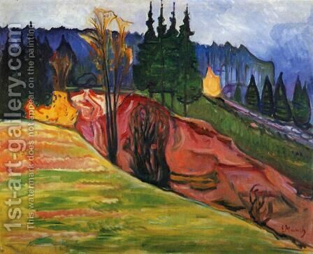 From Thuringewald by Edvard Munch - Reproduction Oil Painting