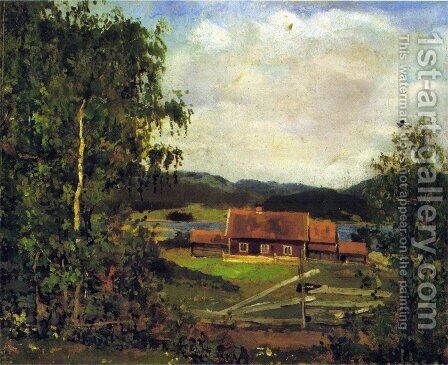 Landscape. Maridalen by Oslo by Edvard Munch - Reproduction Oil Painting