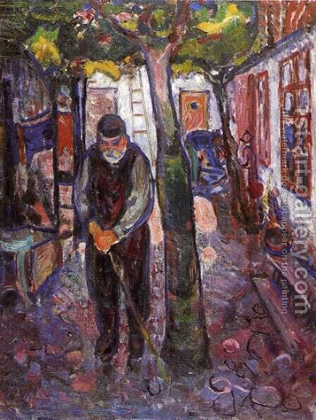 Old Man in Warnemunde by Edvard Munch - Reproduction Oil Painting