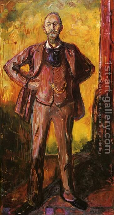 Professor Daniel Jacobson by Edvard Munch - Reproduction Oil Painting