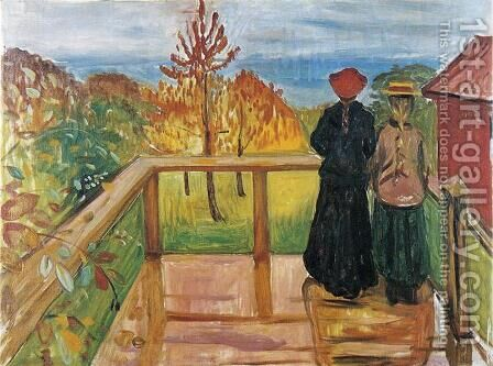 Rain by Edvard Munch - Reproduction Oil Painting