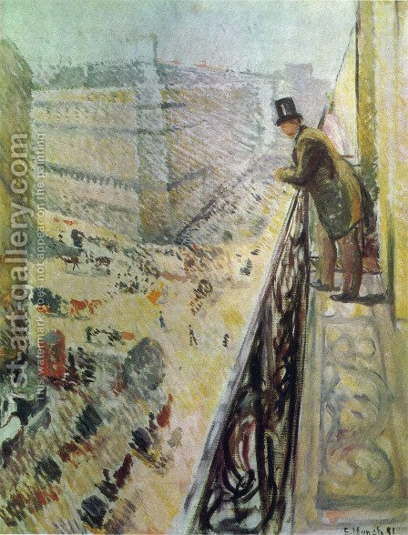 Rue Lafaette by Edvard Munch - Reproduction Oil Painting