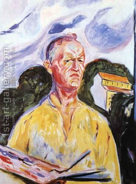Self-Portrait at Ekely by Edvard Munch - Reproduction Oil Painting