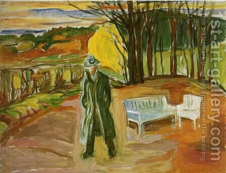 Self-Portrait in the Garden, Ekely by Edvard Munch - Reproduction Oil Painting