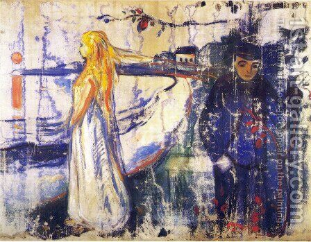 Separation 1894 by Edvard Munch - Reproduction Oil Painting