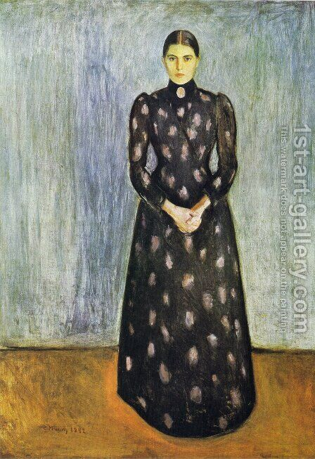 Sister Inger by Edvard Munch - Reproduction Oil Painting