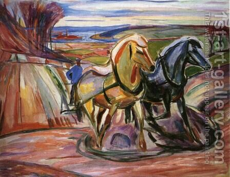 Spring Plowing by Edvard Munch - Reproduction Oil Painting