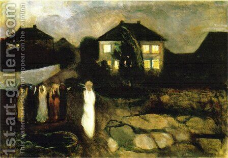 Stormy Night by Edvard Munch - Reproduction Oil Painting