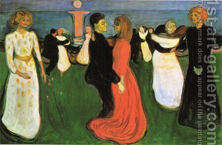 The Dance Of Life by Edvard Munch - Reproduction Oil Painting