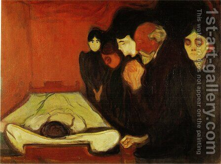 The Death Bed by Edvard Munch - Reproduction Oil Painting