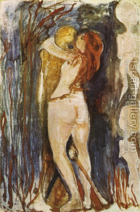The Death and the young girl 1893 by Edvard Munch - Reproduction Oil Painting