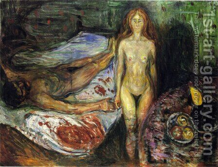 The Death of the husband 1907 by Edvard Munch - Reproduction Oil Painting