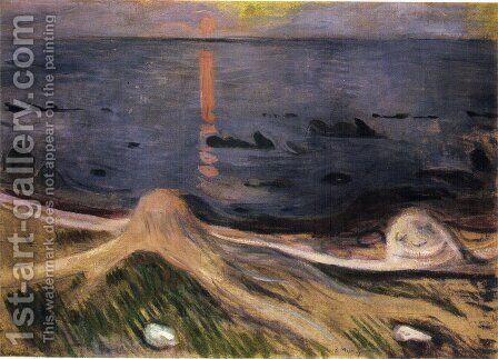 The Mystery of a Summer Night by Edvard Munch - Reproduction Oil Painting