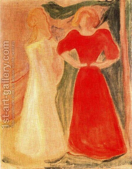 Two Girls by Edvard Munch - Reproduction Oil Painting