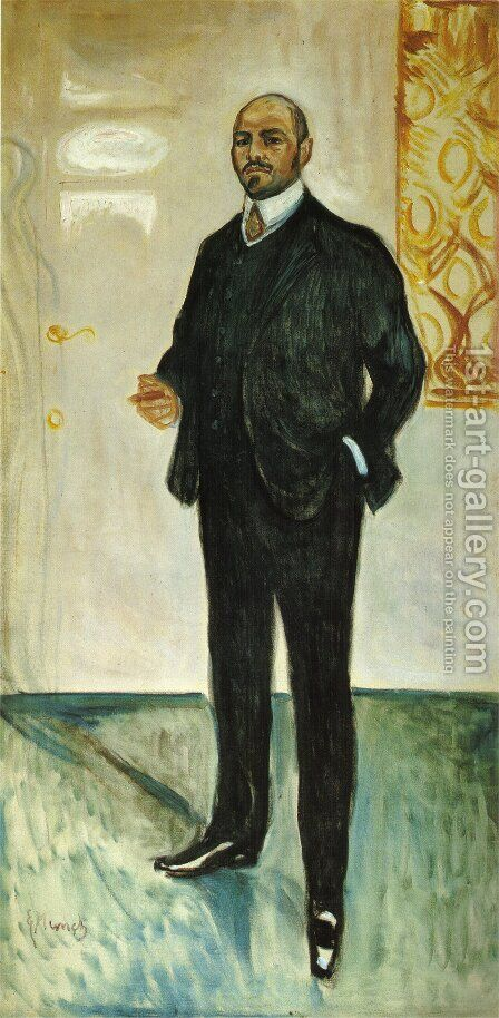 Walter Rathenau 1907 by Edvard Munch - Reproduction Oil Painting