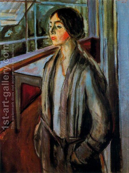 Woman on the Verandah by Edvard Munch - Reproduction Oil Painting