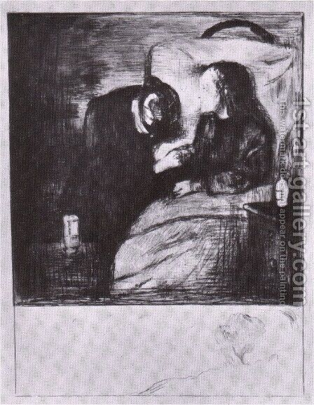 la jeune fille malade 1894 by Edvard Munch - Reproduction Oil Painting