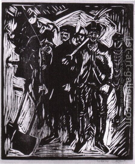 pelleteurs de neige 1911 by Edvard Munch - Reproduction Oil Painting
