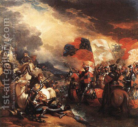Edward III Crossing the Somme (1788) by Benjamin West - Reproduction Oil Painting