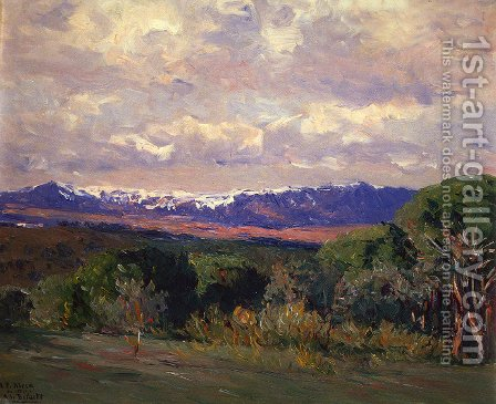 El Guadarrama by Aureliano de Beruete y Moret - Reproduction Oil Painting
