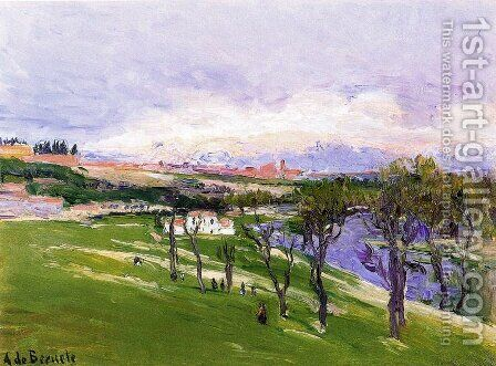 La pradera de San Isidro by Aureliano de Beruete y Moret - Reproduction Oil Painting