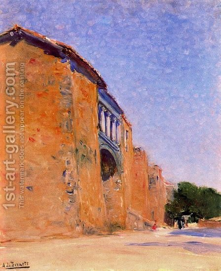 Una puerta en las murallas de Ávila by Aureliano de Beruete y Moret - Reproduction Oil Painting
