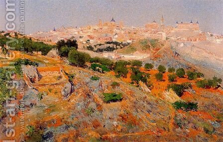 Vista de Toledo desde los Cigarrales by Aureliano de Beruete y Moret - Reproduction Oil Painting