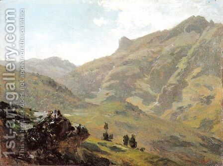 Aguas buenas, Pirineos by Carlos de Haes - Reproduction Oil Painting