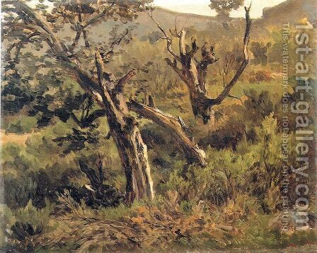 Bosque de Alsasua by Carlos de Haes - Reproduction Oil Painting
