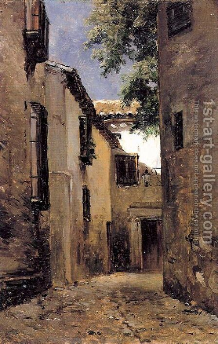 Calle de Toledo by Carlos de Haes - Reproduction Oil Painting