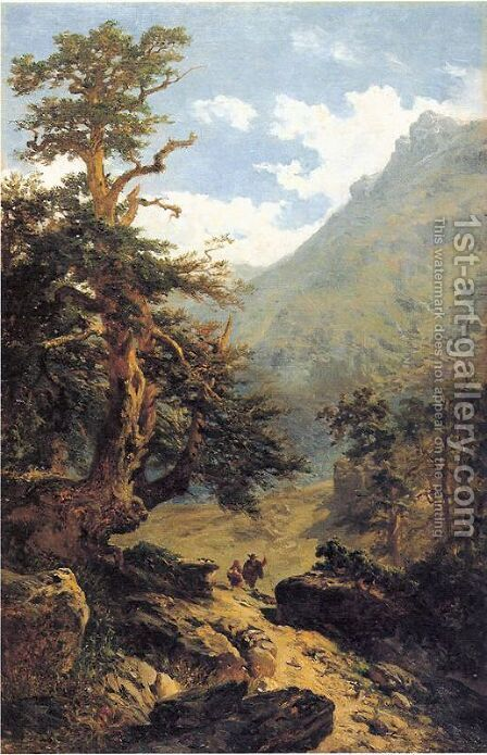 El sendero by Carlos de Haes - Reproduction Oil Painting
