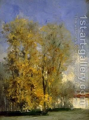 Otoño. El Retiro. Madrid by Carlos de Haes - Reproduction Oil Painting